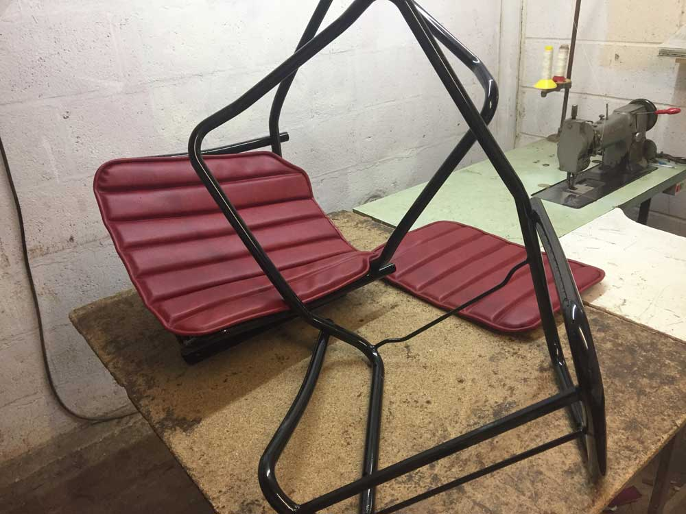 New Bordeaux red seats - HY Van