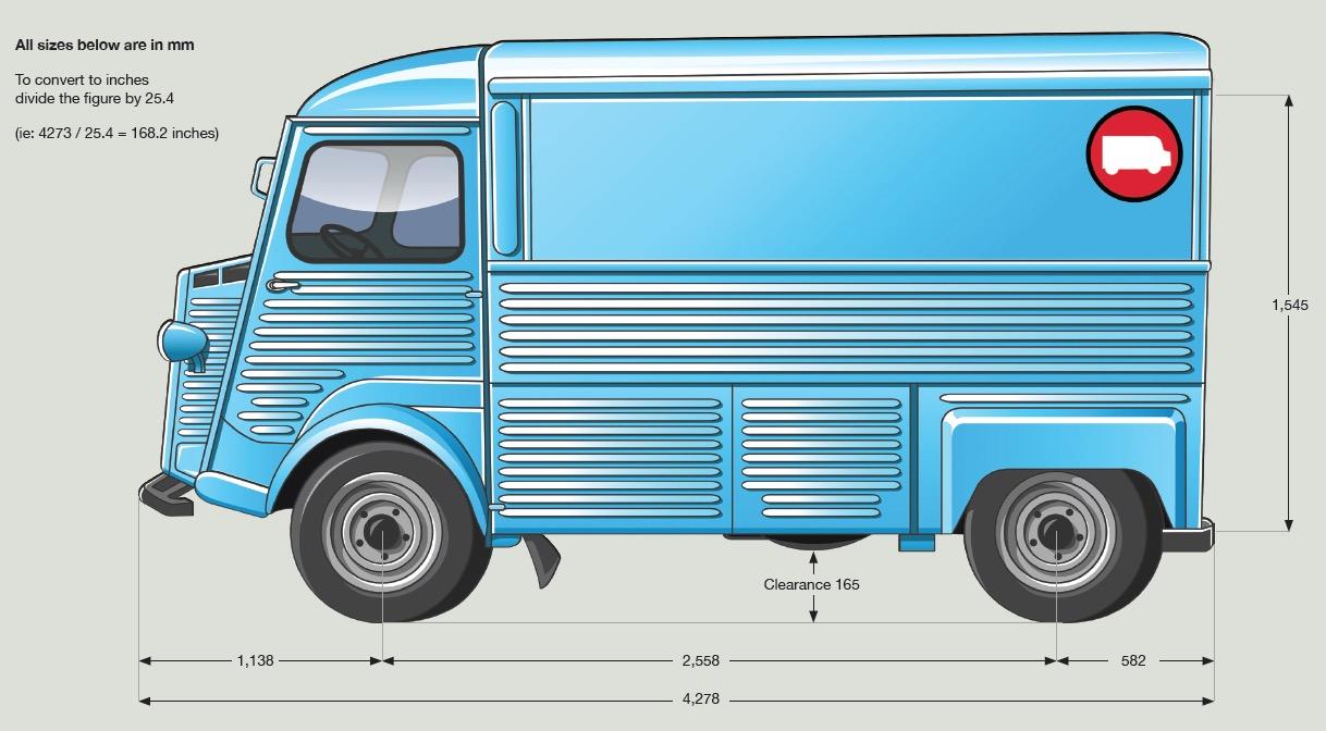 HY Van Dimensions - Side View